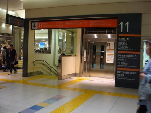 11番線のエレベーター.JPG